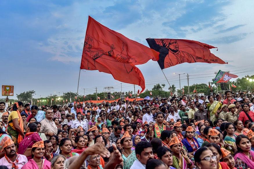 பிஜேபிக்கு ஆதரவாக பிரச்சாரம் செய்யும் பிரமர் மோடி