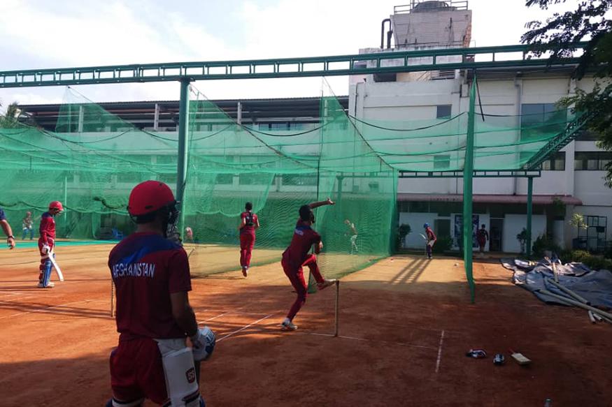 பந்துவீச்சு பயிற்சியில் ஆஃப்கன் வீரர்கள் (AfghanistanCricket)