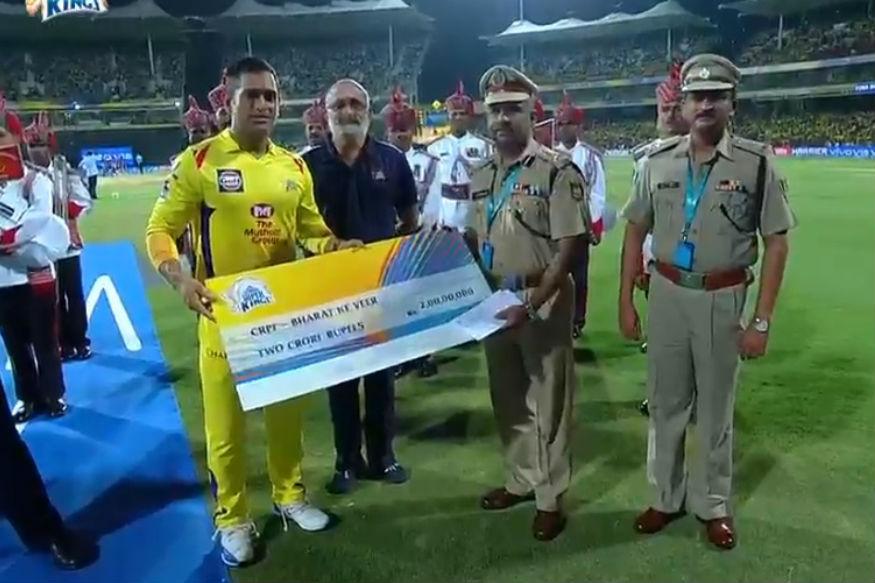 BCCI donates, Dhoni