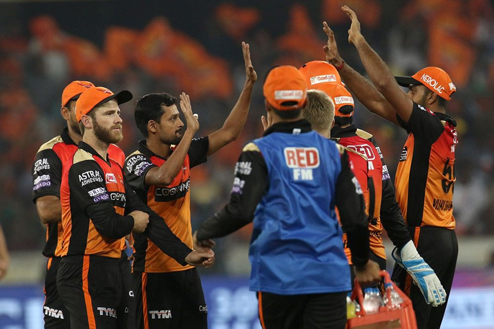 ராஜஸ்தான் அணிக்கு எதிரான போட்டியில் ஹைதராபாத் அணி 5 விக்கெட்டுகள் வித்தியாசத்தில் வெற்றி பெற்றது. (Photo - IPL)