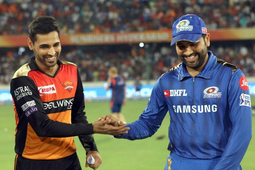 Bhuvi and Rohit, SRH vs MI, BCCI