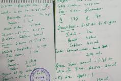 தனக்கு தேவையான உணவை எழுதிக்கொடுத்த ஜெயலலிதா