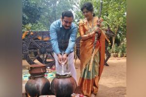 பொங்கல் கொண்டாடிய அன்புமணி ராமதாஸ்: கலர்ஃபுல் கேலரி