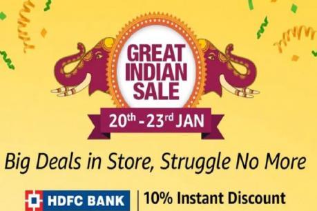 ஜனவரி 20 முதல் தொடங்குகிறது அமேசான் Great Indian Sale!