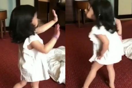 VIDEO | 'ஒத்த சொல்லால' பாடலுக்கு நடனமாடிய தோனியின் மகள் ஸிவா..!