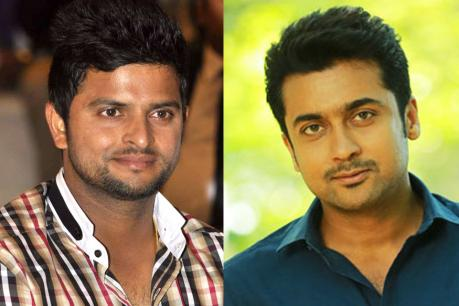 Image result for surya and suresh raina pictures